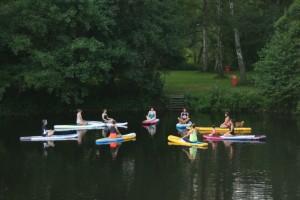 Wasserperle - SUP Yoga auf dem Langsee