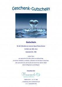 Vitalperle + Wasserperle - Gutschein Aqua Fitness